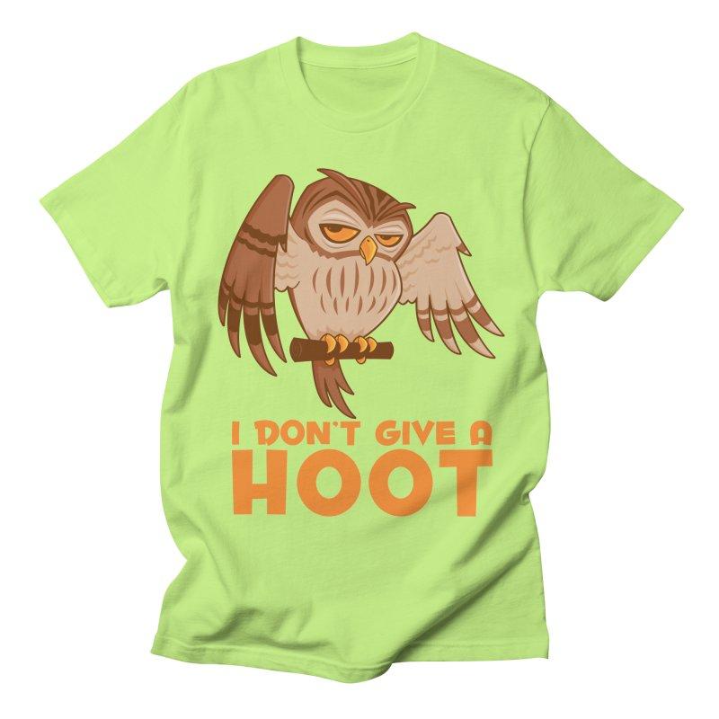 I Don't Give A Hoot Owl Men's Regular T-Shirt by Fizzgig's Artist Shop