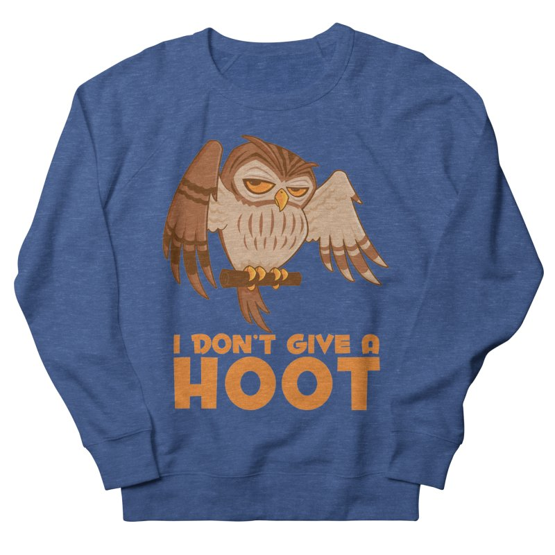 I Don't Give A Hoot Owl Men's French Terry Sweatshirt by Fizzgig's Artist Shop