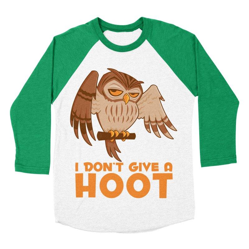 I Don't Give A Hoot Owl Men's Baseball Triblend Longsleeve T-Shirt by Fizzgig's Artist Shop
