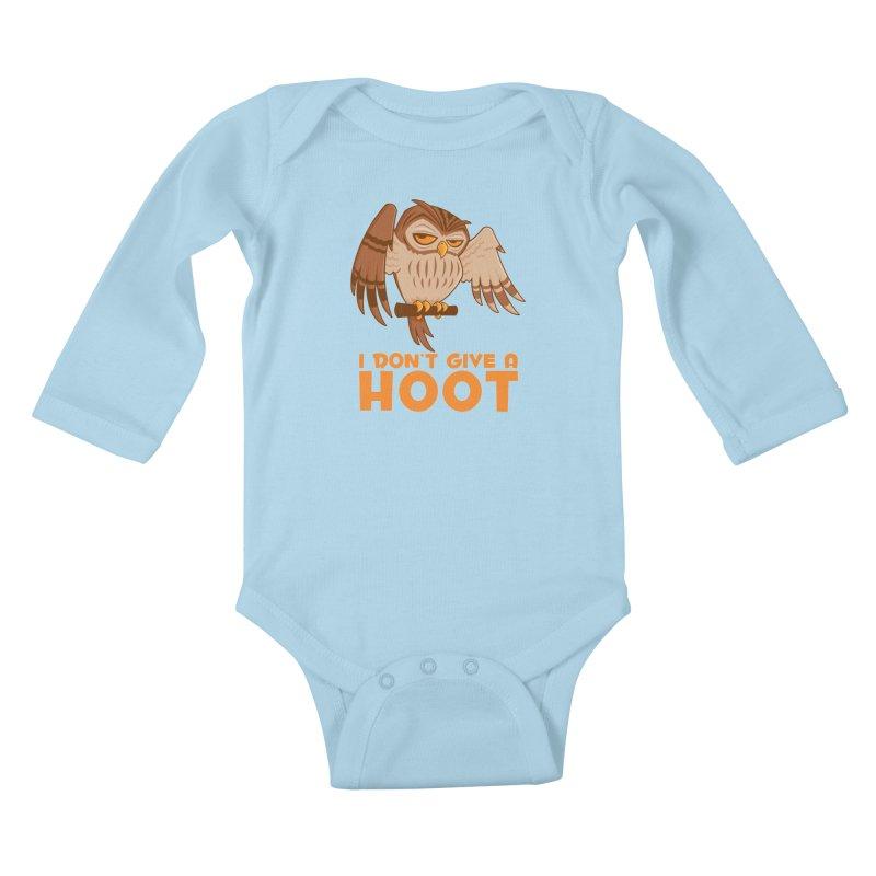 I Don't Give A Hoot Owl Kids Baby Longsleeve Bodysuit by Fizzgig's Artist Shop