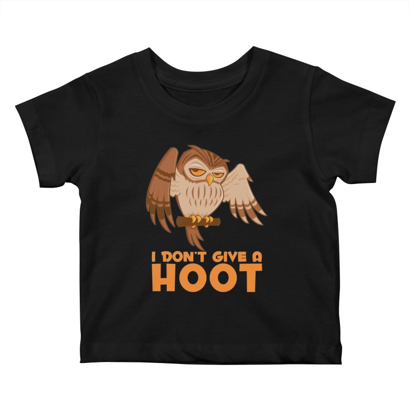 I Don't Give A Hoot Owl Kids Baby T-Shirt by Fizzgig's Artist Shop