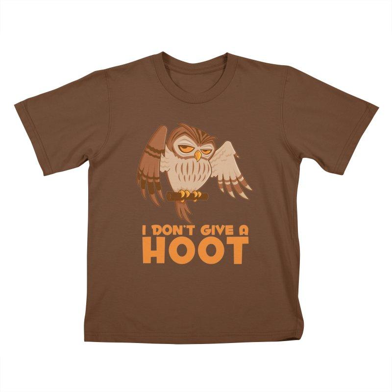 I Don't Give A Hoot Owl Kids T-Shirt by Fizzgig's Artist Shop