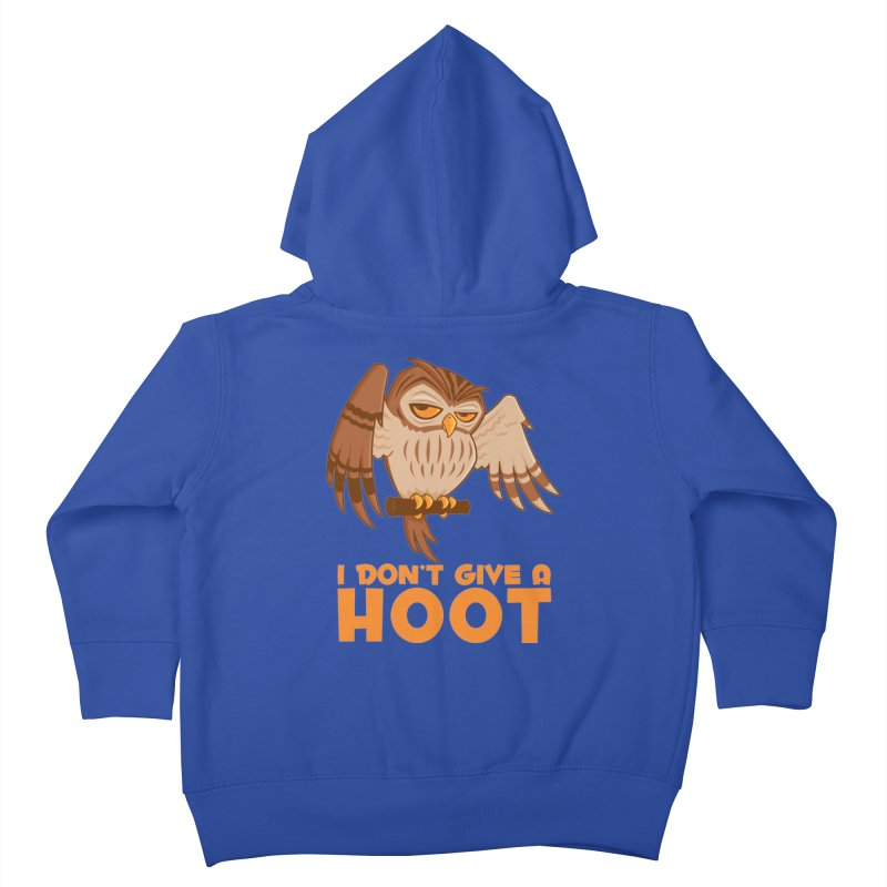 I Don't Give A Hoot Owl Kids Toddler Zip-Up Hoody by Fizzgig's Artist Shop
