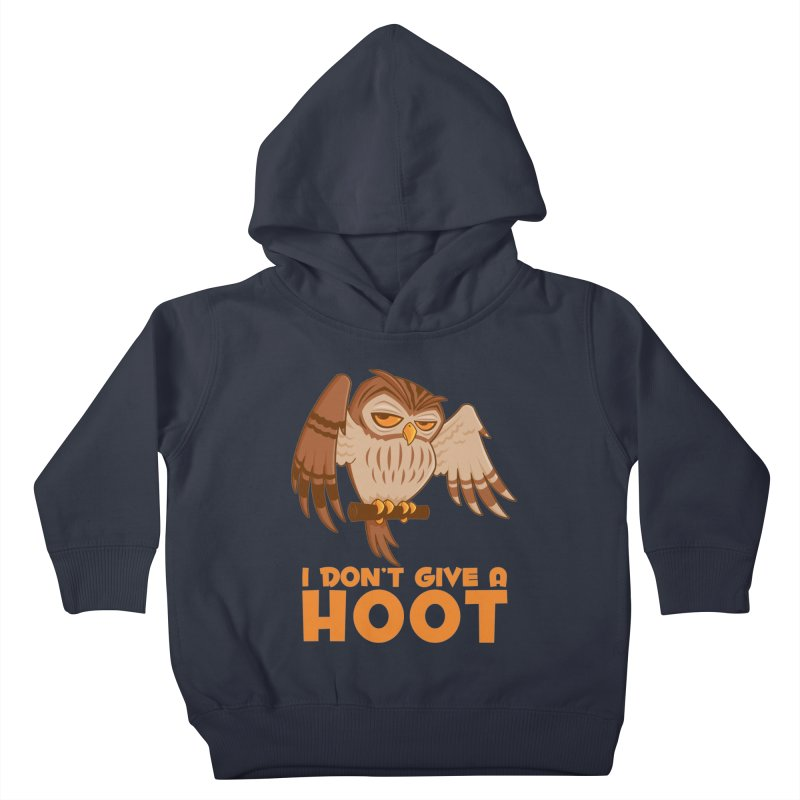 I Don't Give A Hoot Owl Kids Toddler Pullover Hoody by Fizzgig's Artist Shop