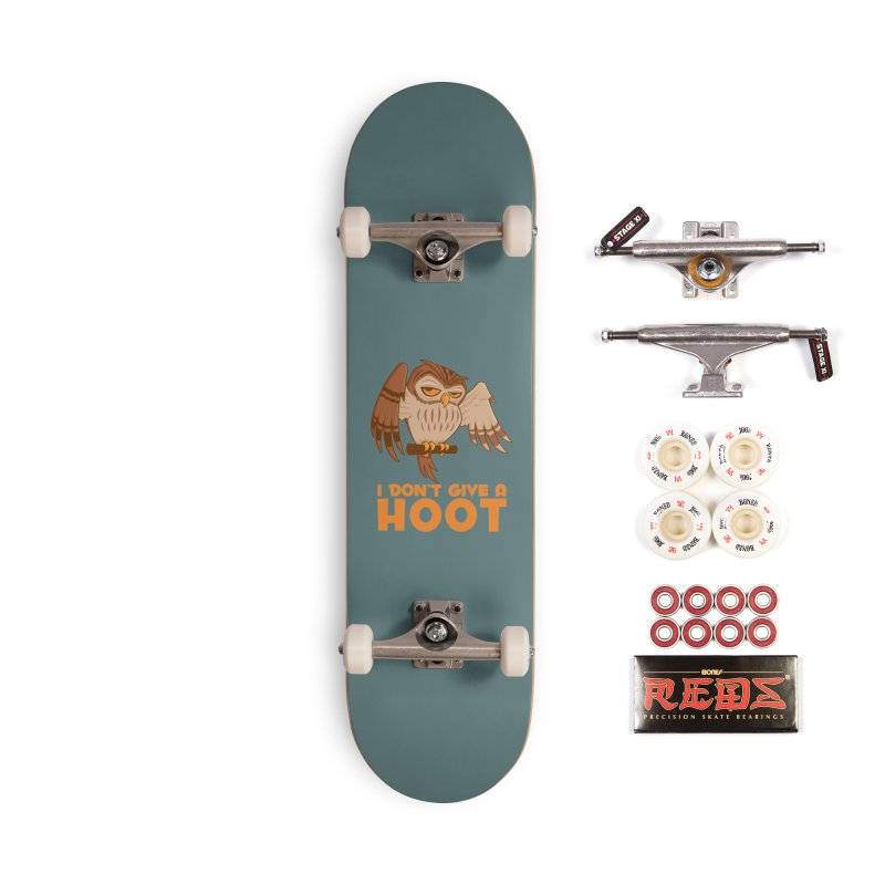 I Don't Give A Hoot Owl Accessories Complete - Pro Skateboard by Fizzgig's Artist Shop