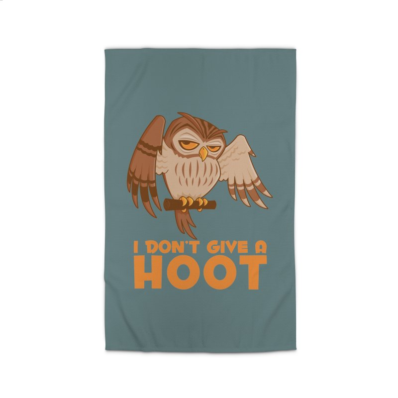 I Don't Give A Hoot Owl Home Rug by Fizzgig's Artist Shop