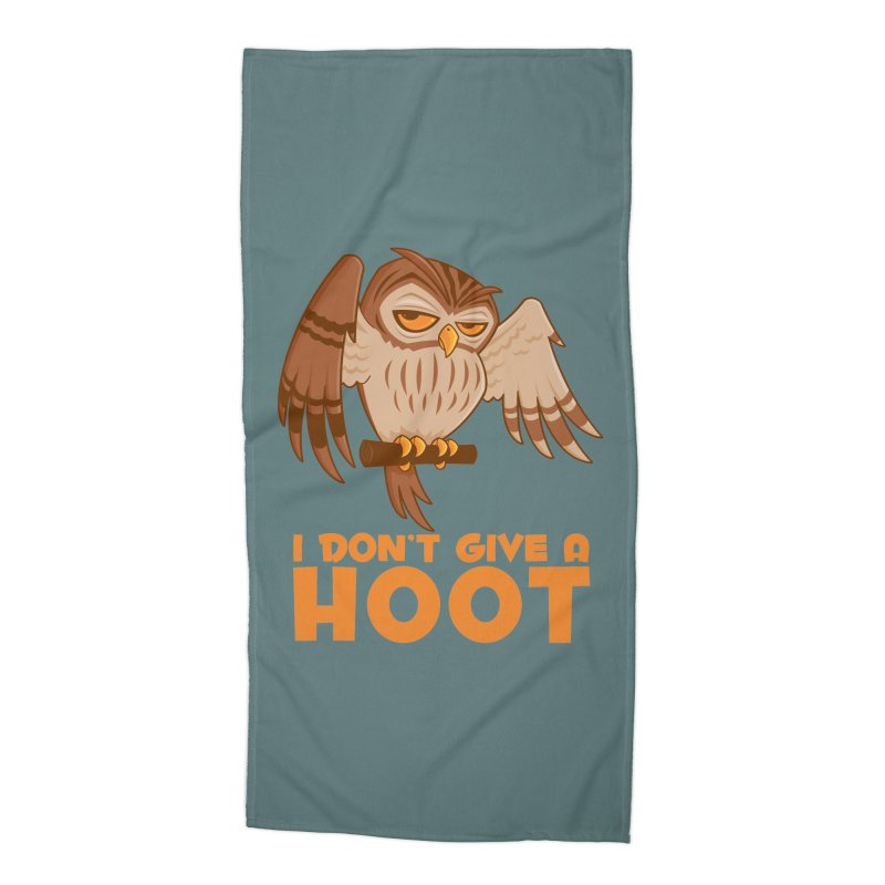 I Don't Give A Hoot Owl Accessories Beach Towel by Fizzgig's Artist Shop
