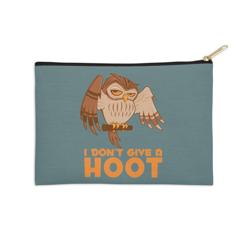 I Don't Give A Hoot Owl Accessories Zip Pouch by Fizzgig's Artist Shop