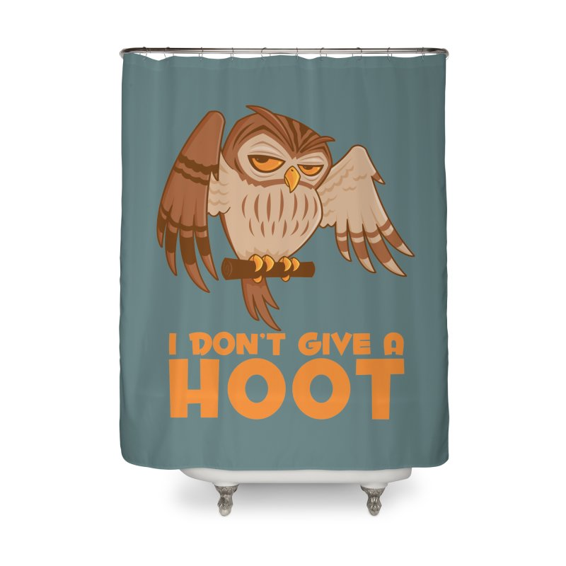 I Don't Give A Hoot Owl Home Shower Curtain by Fizzgig's Artist Shop