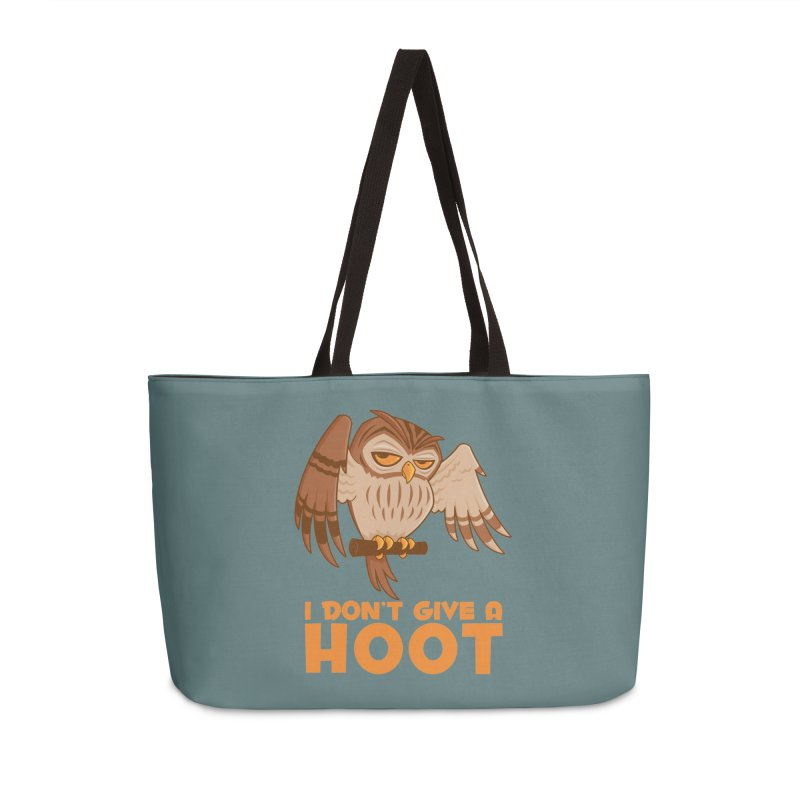 I Don't Give A Hoot Owl Accessories Weekender Bag Bag by Fizzgig's Artist Shop