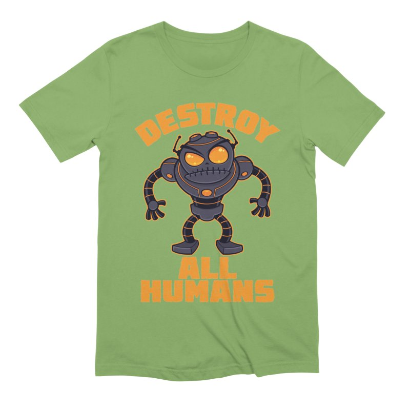 Destroy All Humans Angry Robot Men's Extra Soft T-Shirt by Fizzgig's Artist Shop