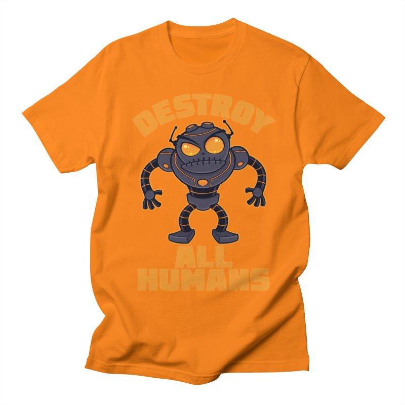 Destroy All Humans Angry Robot Women's Regular Unisex T-Shirt by Fizzgig's Artist Shop