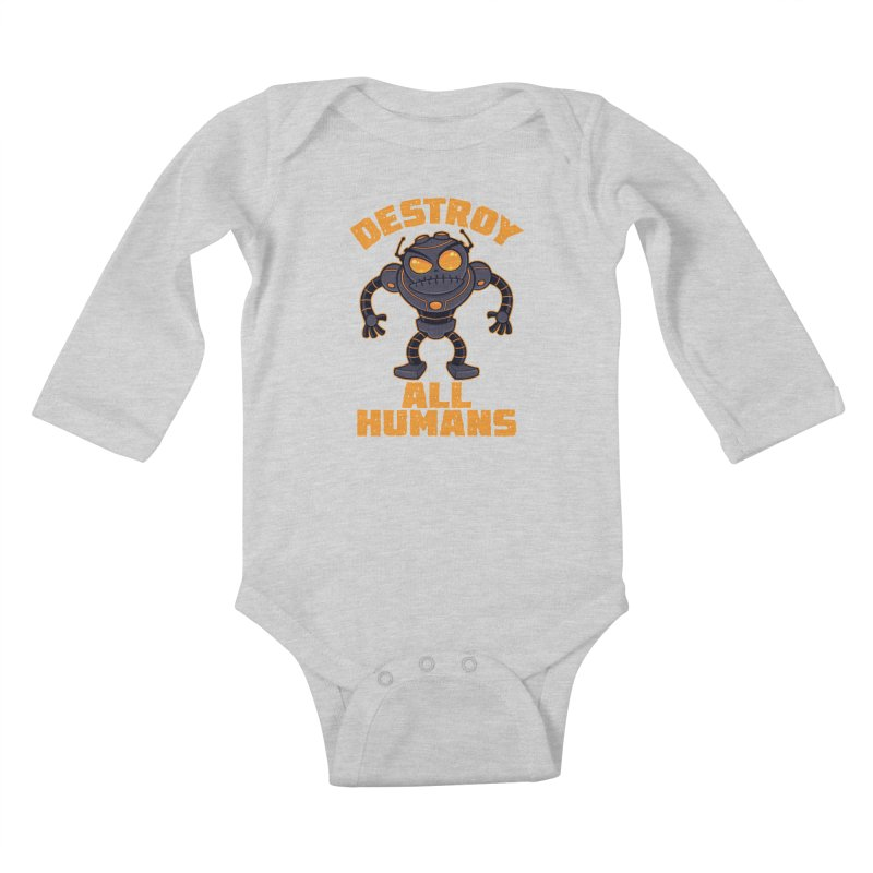 Destroy All Humans Angry Robot Kids Baby Longsleeve Bodysuit by Fizzgig's Artist Shop