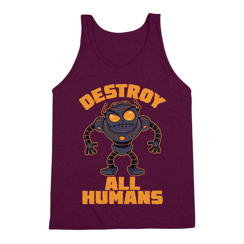 Destroy All Humans Angry Robot Men's Triblend Tank by Fizzgig's Artist Shop
