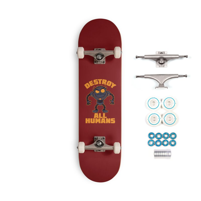 Destroy All Humans Angry Robot Accessories Complete - Basic Skateboard by Fizzgig's Artist Shop