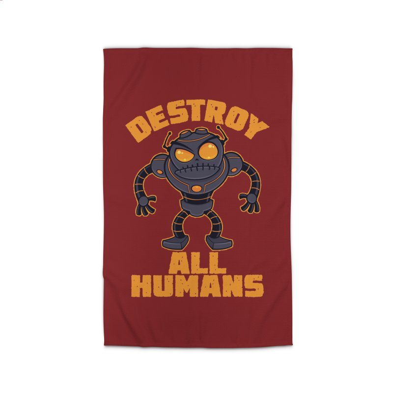 Destroy All Humans Angry Robot Home Rug by Fizzgig's Artist Shop