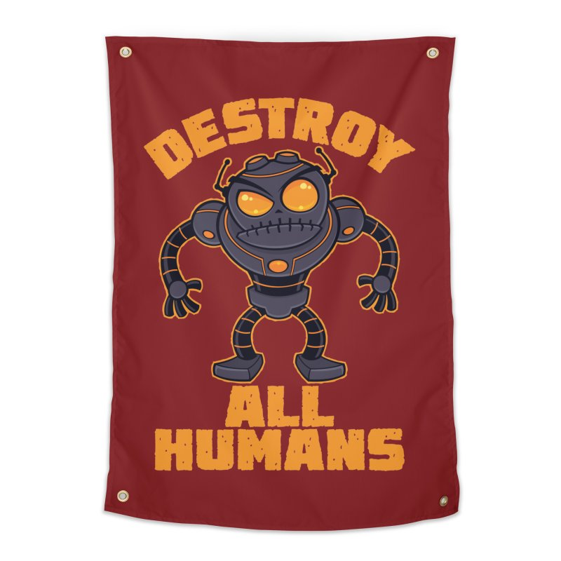 Destroy All Humans Angry Robot Home Tapestry by Fizzgig's Artist Shop