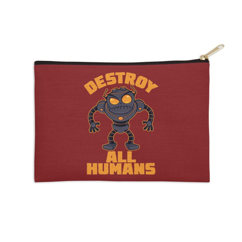 Destroy All Humans Angry Robot Accessories Zip Pouch by Fizzgig's Artist Shop