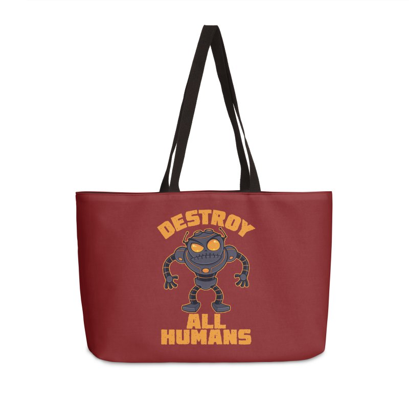 Destroy All Humans Angry Robot Accessories Weekender Bag Bag by Fizzgig's Artist Shop
