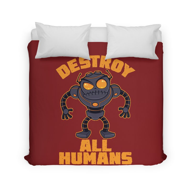 Destroy All Humans Angry Robot Home Duvet by Fizzgig's Artist Shop