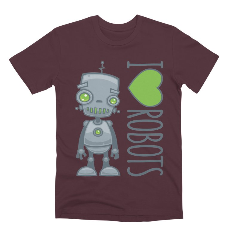 I Love Robots Men's Premium T-Shirt by Fizzgig's Artist Shop