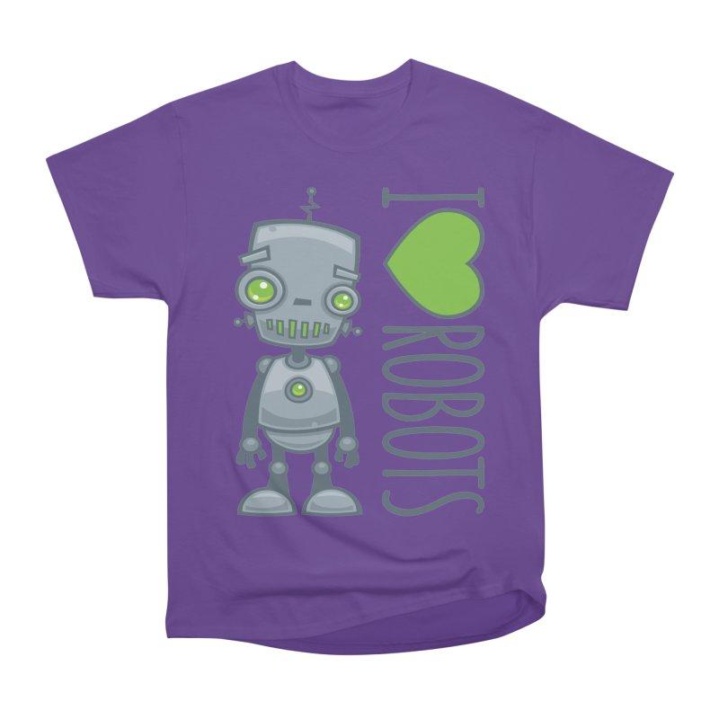 I Love Robots Men's Heavyweight T-Shirt by Fizzgig's Artist Shop