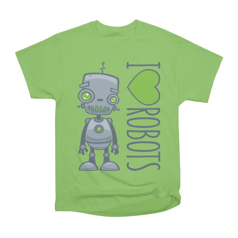 I Love Robots Men's Heavyweight T-Shirt by Fizzgig's Artist Shop
