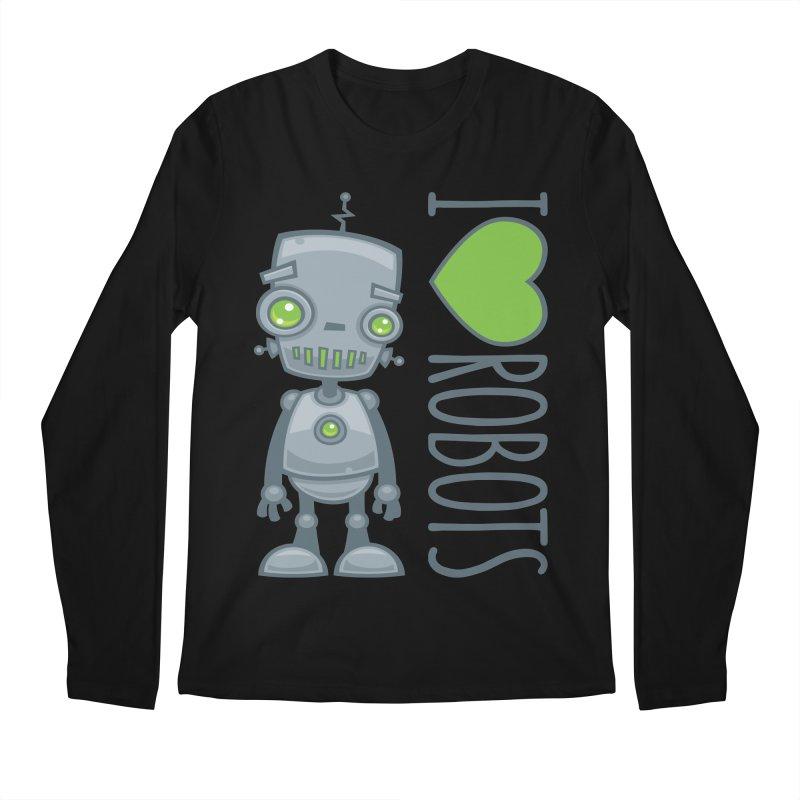 I Love Robots Men's Regular Longsleeve T-Shirt by Fizzgig's Artist Shop