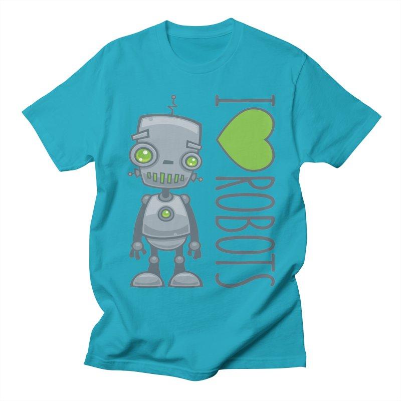 I Love Robots Women's Regular Unisex T-Shirt by Fizzgig's Artist Shop
