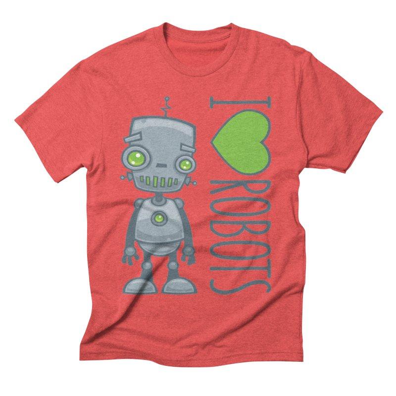 I Love Robots Men's Triblend T-Shirt by Fizzgig's Artist Shop