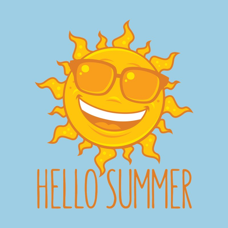 Hello Summer Sun With Sunglasses by Fizzgig's Artist Shop