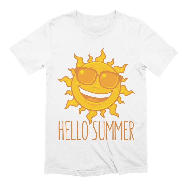 Hello Summer Sun With Sunglasses Men's Extra Soft T-Shirt by Fizzgig's Artist Shop