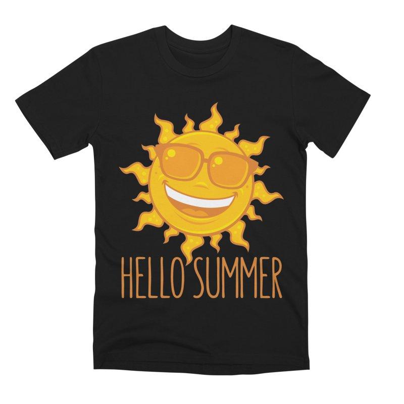 Hello Summer Sun With Sunglasses Men's Premium T-Shirt by Fizzgig's Artist Shop