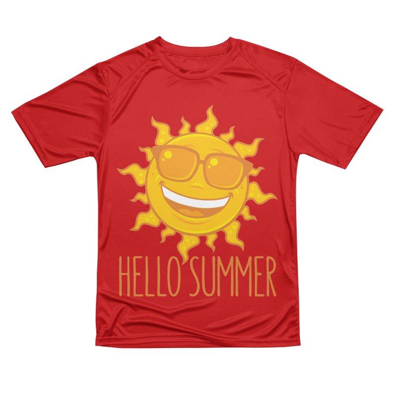 Hello Summer Sun With Sunglasses Men's Performance T-Shirt by Fizzgig's Artist Shop