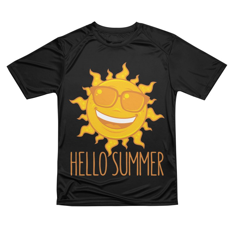 Hello Summer Sun With Sunglasses Women's Performance Unisex T-Shirt by Fizzgig's Artist Shop