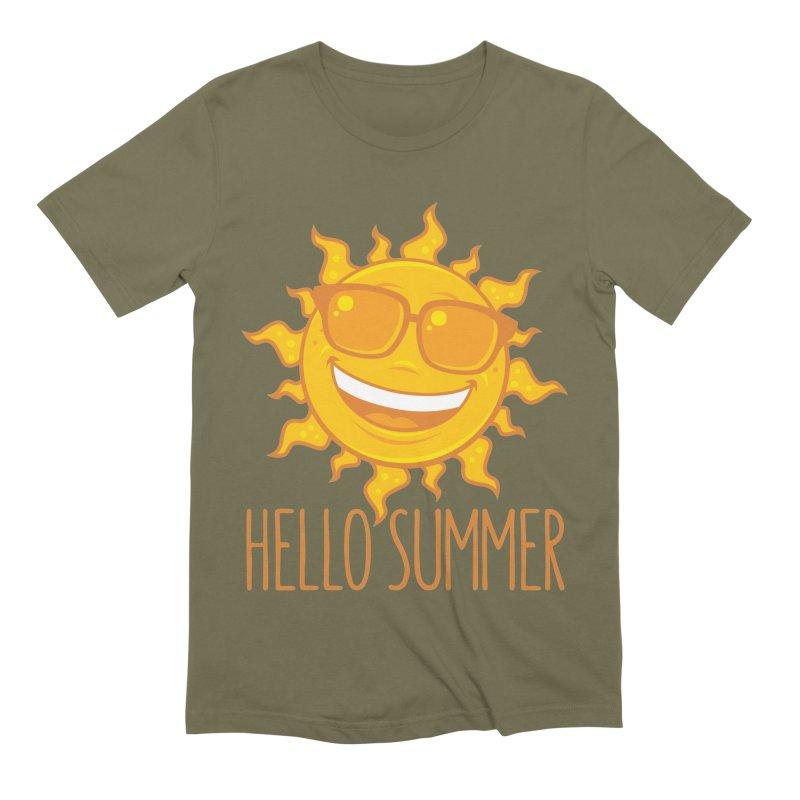 Hello Summer Sun With Sunglasses Men's Extra Soft T-Shirt by Fizzgig's Artist Shop