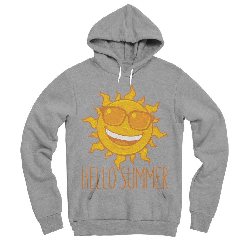 Hello Summer Sun With Sunglasses Men's Sponge Fleece Pullover Hoody by Fizzgig's Artist Shop