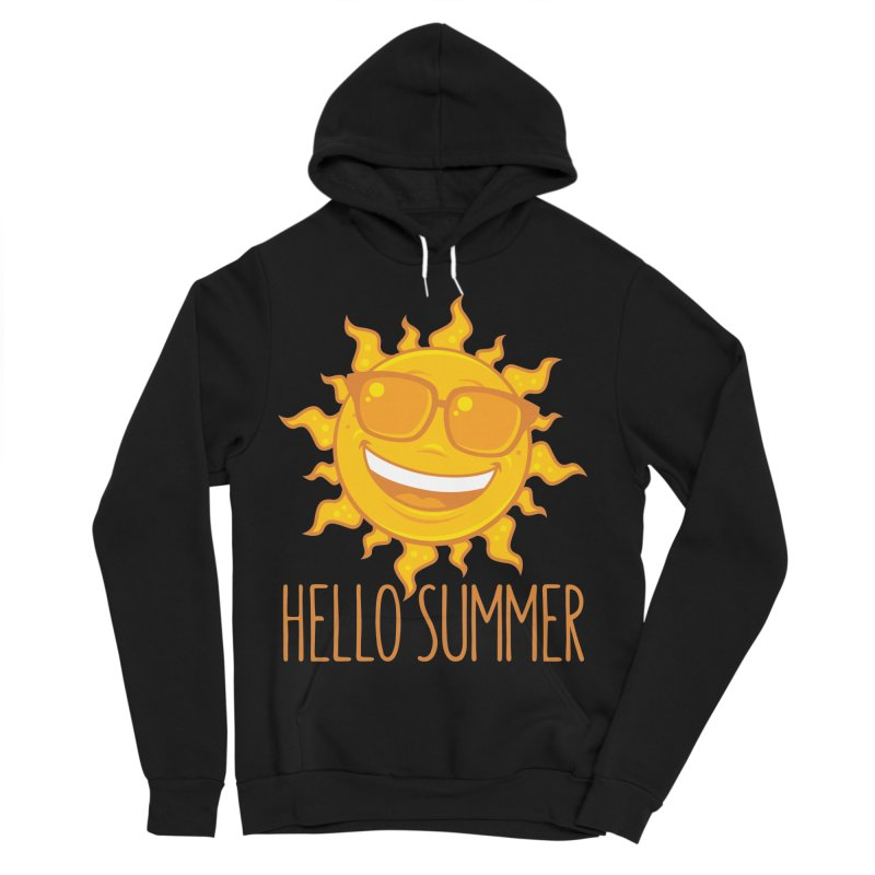Hello Summer Sun With Sunglasses Women's Sponge Fleece Pullover Hoody by Fizzgig's Artist Shop