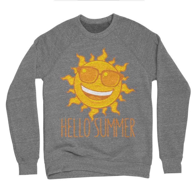 Hello Summer Sun With Sunglasses Women's Sponge Fleece Sweatshirt by Fizzgig's Artist Shop