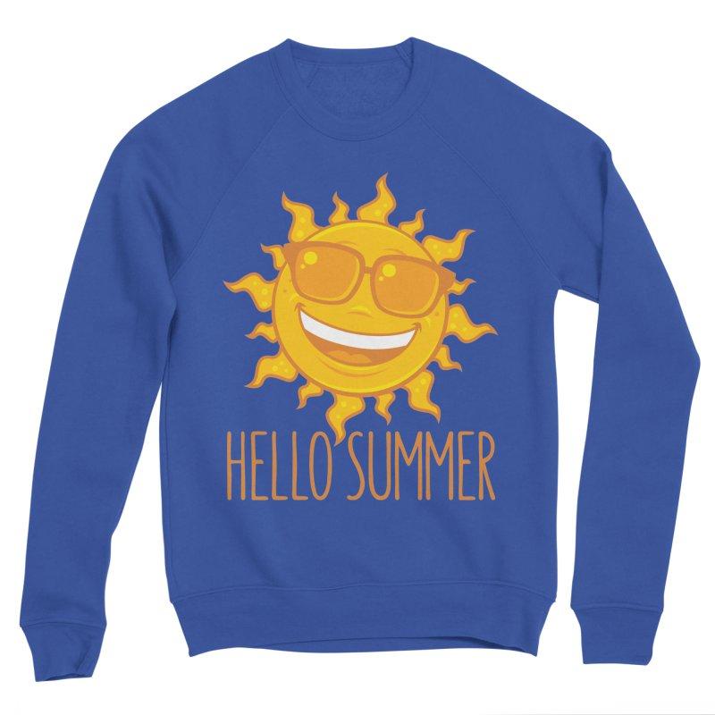 Hello Summer Sun With Sunglasses Men's Sponge Fleece Sweatshirt by Fizzgig's Artist Shop