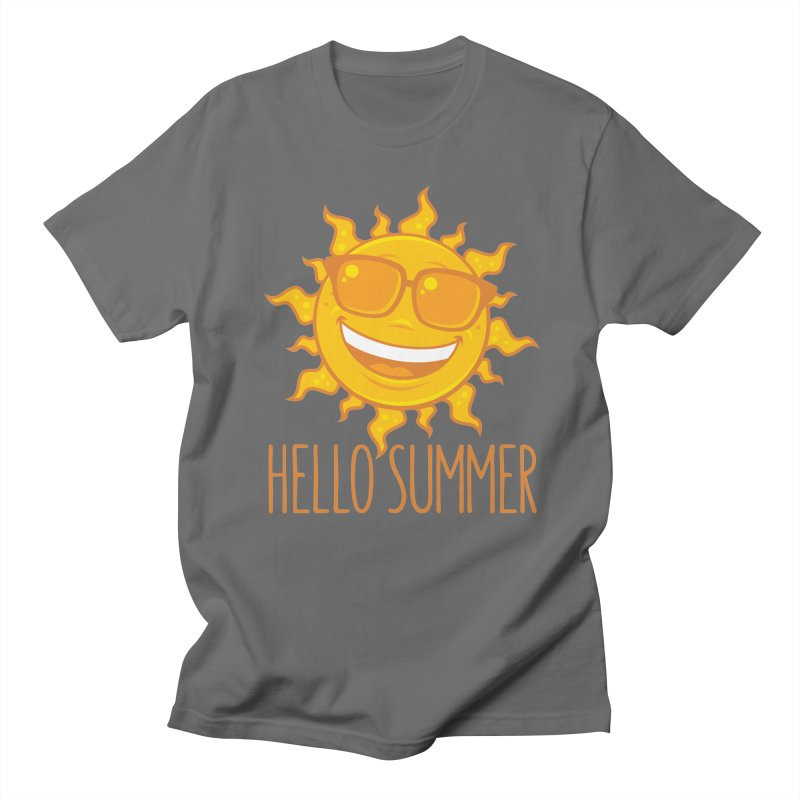 Hello Summer Sun With Sunglasses Men's T-Shirt by Fizzgig's Artist Shop