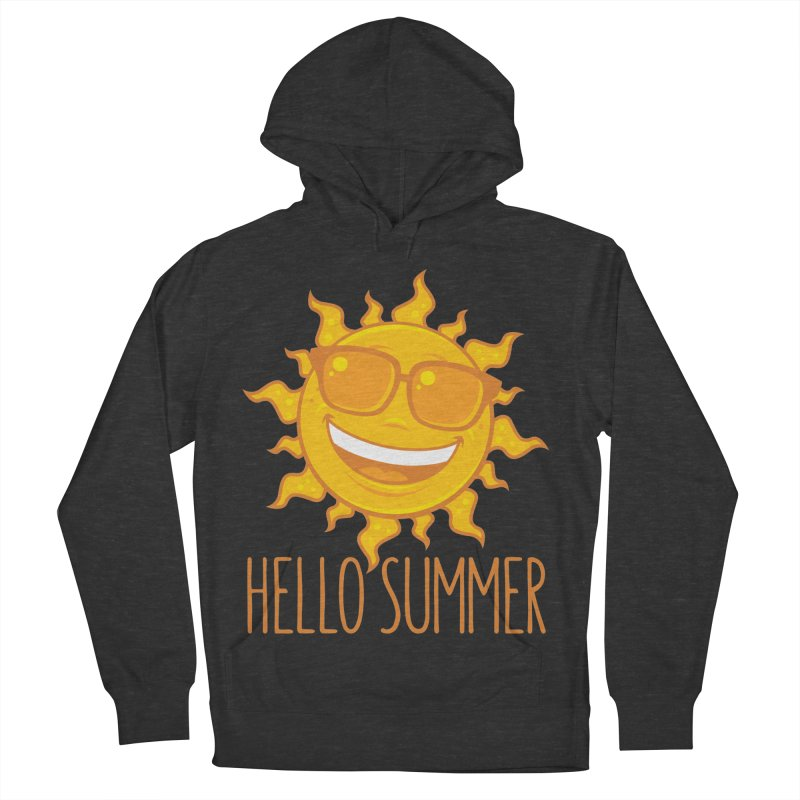 Hello Summer Sun With Sunglasses Women's French Terry Pullover Hoody by Fizzgig's Artist Shop