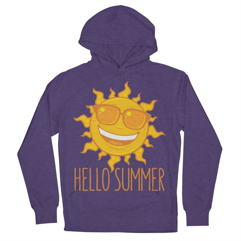 Hello Summer Sun With Sunglasses Men's French Terry Pullover Hoody by Fizzgig's Artist Shop