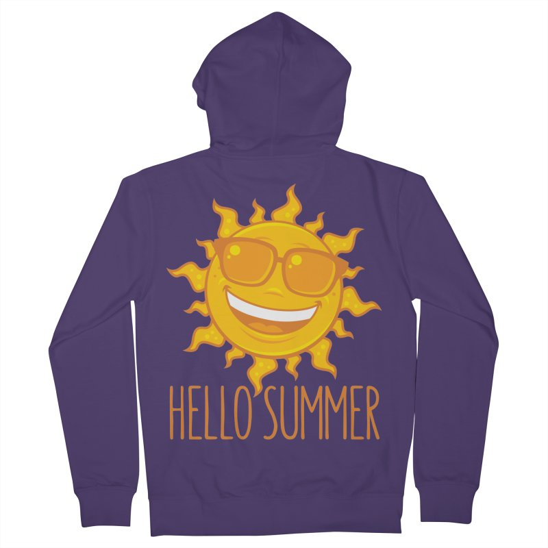 Hello Summer Sun With Sunglasses Women's French Terry Zip-Up Hoody by Fizzgig's Artist Shop
