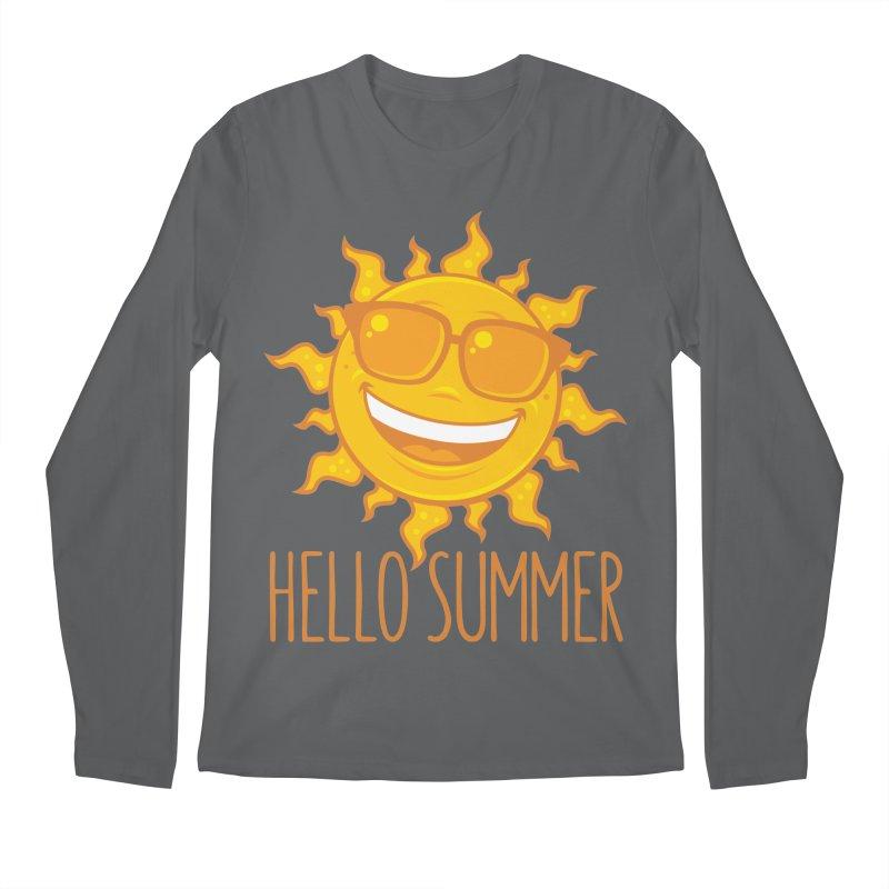 Hello Summer Sun With Sunglasses Men's Regular Longsleeve T-Shirt by Fizzgig's Artist Shop