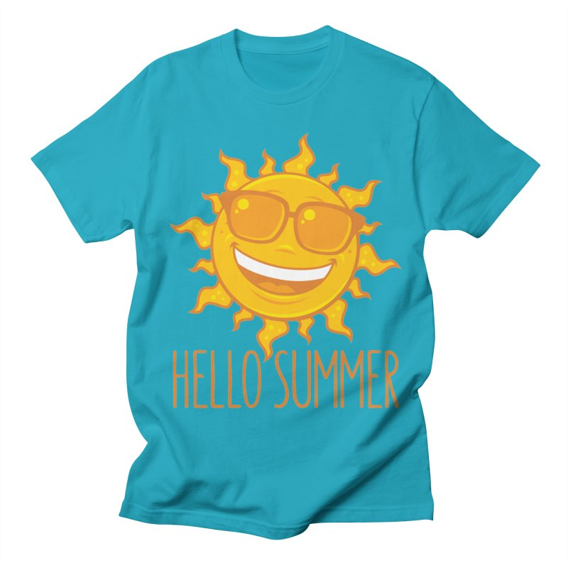 Hello Summer Sun With Sunglasses Women's Regular Unisex T-Shirt by Fizzgig's Artist Shop