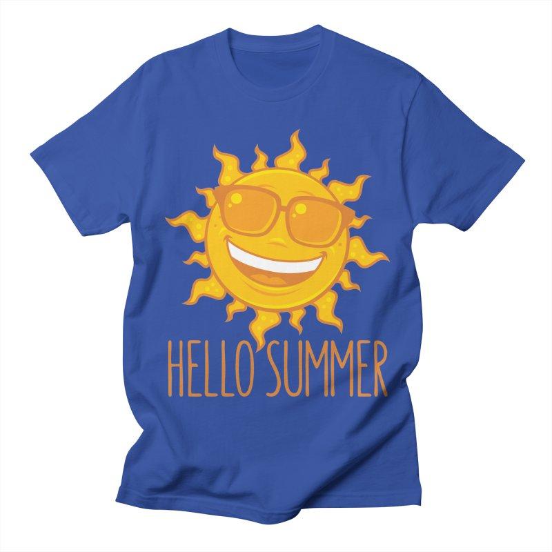 Hello Summer Sun With Sunglasses Women's Regular Unisex T-Shirt by Fizzgig's Artist Shop