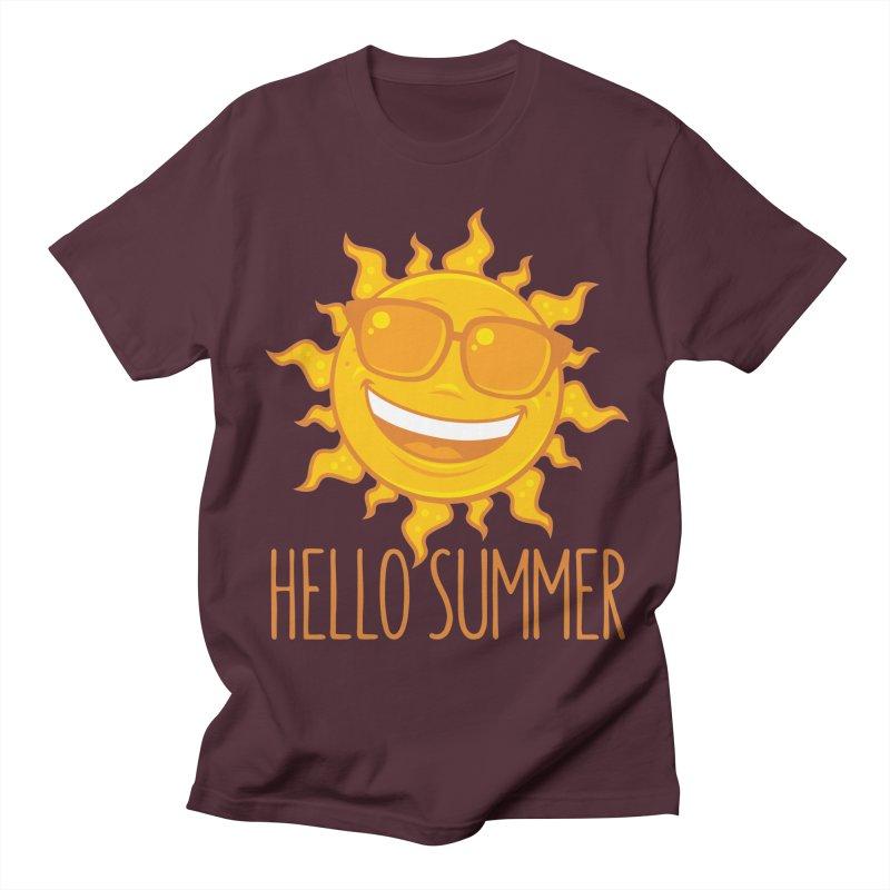 Hello Summer Sun With Sunglasses Men's Regular T-Shirt by Fizzgig's Artist Shop