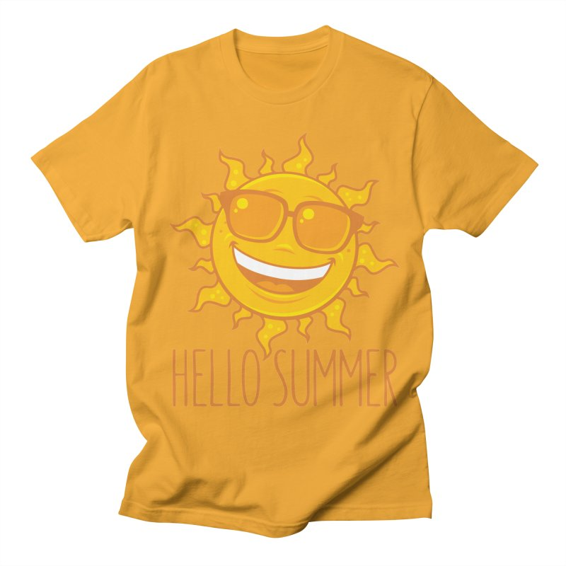 Hello Summer Sun With Sunglasses Men's Regular T-Shirt by Fizzgig's Artist Shop