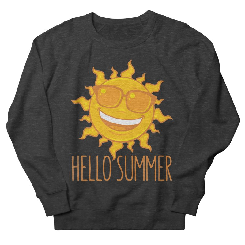 Hello Summer Sun With Sunglasses Women's French Terry Sweatshirt by Fizzgig's Artist Shop